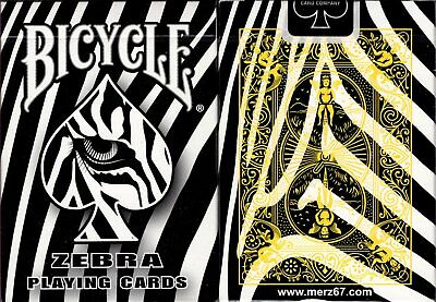 Zebra Deck Bicycle Playing Cards Poker Size USPCC Custom Limited New Sealed
