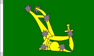 Green Starry Plough Flag - 5 x 3' Irish Republican Rebel Easter Rising 1916 ICA