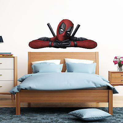 Deadpool Peeking Peeping Kids Boy Car Bedroom Decal Wall Art Sticker Gift New