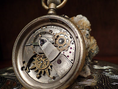 """OOAK Steampunk """"Orient Express"""" Altered Watch Case (Handcrafted Jewelry)"""
