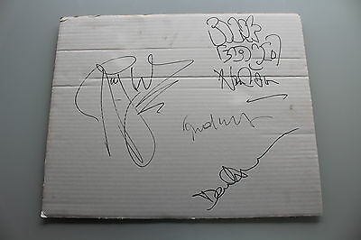 Pink Floyd Fully Hand Signed Autographed Corrugated Framing Board - Waters