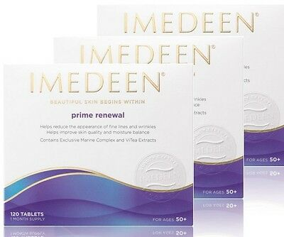 3 x Imedeen Prime Renewal 360 tabs, 3 months supply age 50+, exp date 07/2020