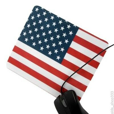 USA FLAG textured cleanable front Anti slip optical COMPUTER MOUSE PAD 8.75 X 7