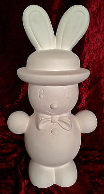 "Paint Your Own Ceramic Bisque - Large Plain Putz Style Bunny -14"" tall"