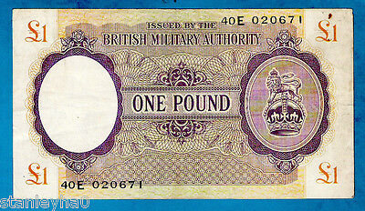 England M6a 1 Pound CROWN & LION British Military Authority Issue 1943 aXF RARE