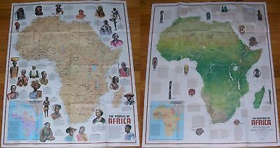 National Geographic MAP PEOPLES of AFRICA December 1971
