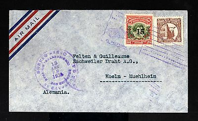 8564-EL SALVADOR-AIRMAIL COVER SAN SALVADOR to KOLN (germany) 1935.WWII.