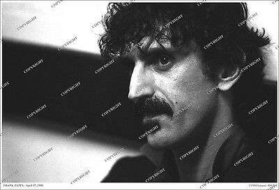 Frank Zappa 19x13 LIMITED EDITION 1980 CANDID PHOTO From Original Negative