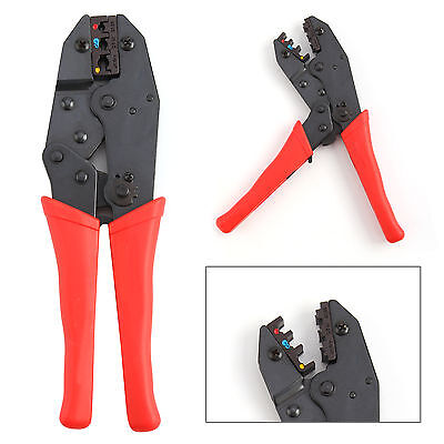"9"" Ratchet Crimper Plier Crimping Tool Kit Cable Wire Electrical Terminals UK"