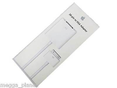 GENUINE Apple 30-pin to VGA Adapter/Converter for iPhone iPad iPod MC552ZM/B