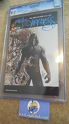 The Darkness v2 # 1 DF BLUE foil logo variant Dale Keown CGC 9.2 2002 Top Cow