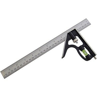 "12"" COMBINATION SQUARE With Spirit Level Carpenters Carpentry Angles DIY Tools"