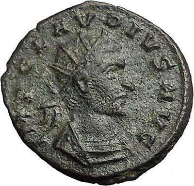 CLAUDIUS II Gothicus 268AD Authentic  Ancient Roman Coin Pax Pease Cult i54853