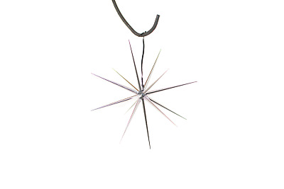 8'' Silver Starburst Ornament Hanging Silver Star Decoration