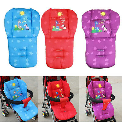 Baby Infant Thick Pushchair Mat Seat Liner Cover Stroller Buggy Pram Cushion Pad