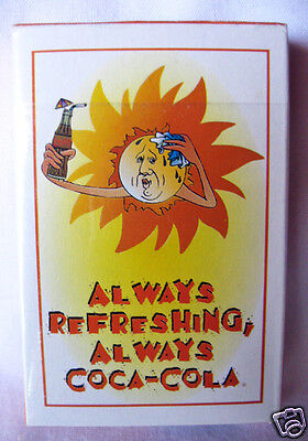 """Deck of Advertising Playing Cards Always Refreshing Coca-Cola """"Sun"""" 1996"""