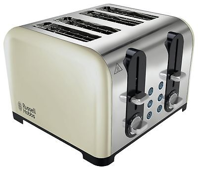 Russell Hobbs Cream 4 Slice Wide Slot Toaster - Cream :The Official Argos Store
