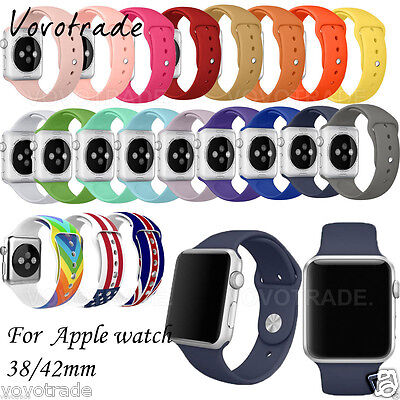 Sport Silicone Bracelet Strap Band For Apple Watch 38mm/42MM For apple watch 1/2