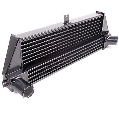 BLACK FRONT MOUNT 530x200x50 INTERCOOLER FMIC KIT BMW MINI R56 R57 1.6 COOPER S