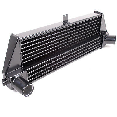 BLACK FRONT MOUNT 530x200x50mm INTERCOOLER FMIC TO BMW MINI R56 R57 1.6 COOPER S