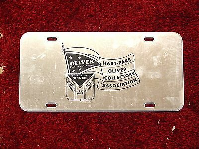 OLIVER HART-PARR COLLECTOR LICENSE PLATE -  Plastic Mirror like finish
