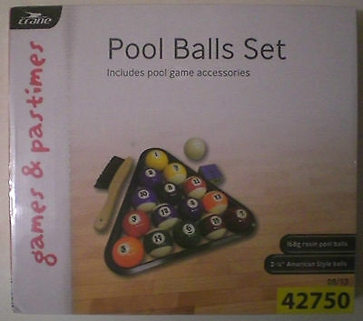 New & Sealed  Pool Balls Set Complete With Accessories