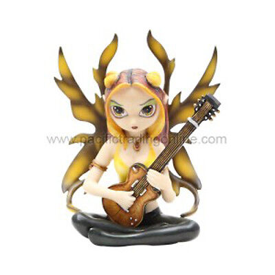 GOLDEN GUITAR FAERIE Fairy Figurine Jasmine Becket-Griffith Strangeling faery