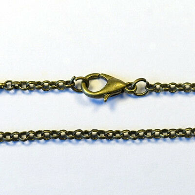 1pc 60cm long 2.8mm ROLO CHAIN BELCHER NECKLACE DIY pendant - ANTIQUE BRASS