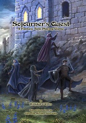 Sojourner's Quest A Fantasy Role Playing Game Randall C Ellis 170 pages Broche