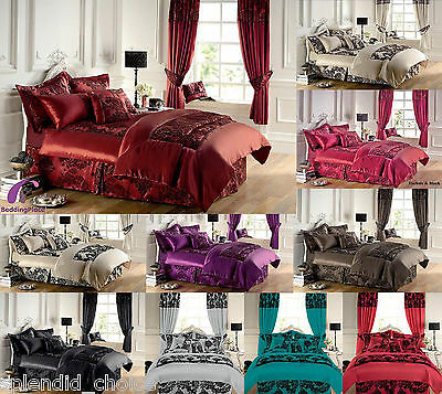 New 3pcs Faux Silk Royal Armask Luxury Bedspread  Double King  Sizes