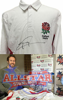 Jonny Wilkinson Signed England Rugby Shirt First Signing Since World Cup & Proof
