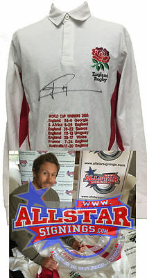 Jonny Wilkinson Signed England Rugby Shirt With World Cup Embroidery  & Proof