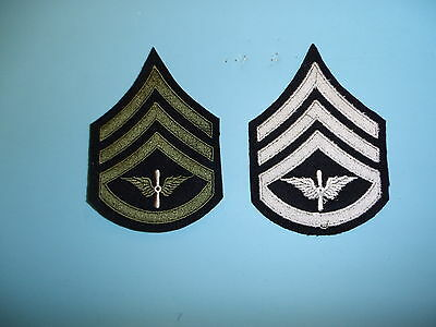 b1559p 1930's-WW2 US Army unofficial Army Air Corp Staff Sergeant chevron R1D