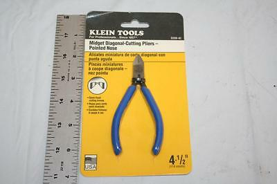 "Klein Tools D209-4C 4-1/2"" Midget Diagonal-Cutting Pliers Pointed Nose Made USA"