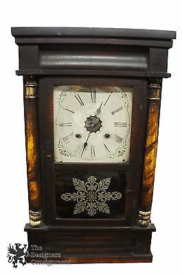 Waterbury Clock Co Antique Victorian Mantel Clock Federal Style Column 19th C.
