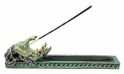 Green Western Dragon Claw Incense Burner Holder Dark Legend Home Decor Gift