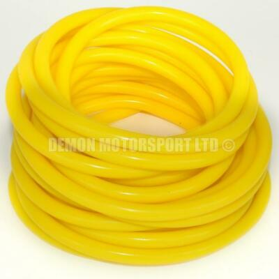 Yellow Silicone Vacuum Hose Pipe - Vac Air Water (PICK CORE SIZE and LENGTH)