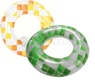 """Giant 47"""" Inflatable Tyre Tube Beach Swimming Pool Sea Swim Rubber Lilo Ring"""