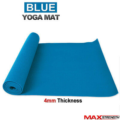 Yoga Exercise Mat Fitness Workout 4mm Thick Aerobic Pilates Camping Gym Non Slip