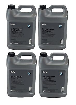 4 Gallon Pack Set GENUINE BMW Engine Coolant Antifreeze Fluid Blue Concentrate