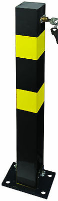 Heavy Duty Folding Robust Security Parking Post Driveway Bollard with Lock & Key