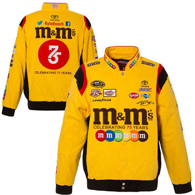 Kyle Busch JH Design M&M's Color Twill Jacket - Yellow - NASCAR