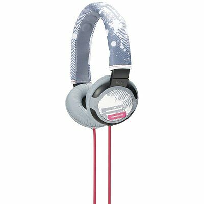 Sony MDRPQ2 PIIQ MDR-PQ2 Over Ear Cup Heavy Bass DJ Stereo Headphones Gray Pink