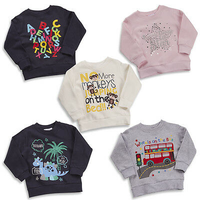 Baby Older Boys And Girls Jumpers Sweaters Tops Funky Themes 6-9M TO 5-6Y