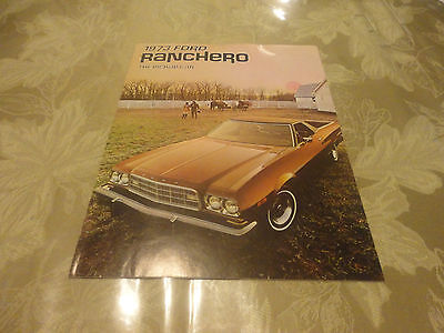 Amazing 1973 FORD Ranchero The Pickup Car Brochure with Specifications