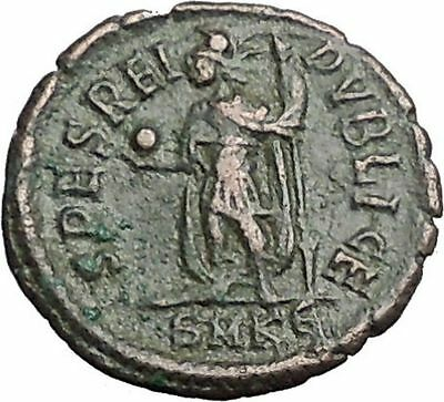 CONSTANTIUS II Constantine the Great son with globe Ancient Roman Coin i54881