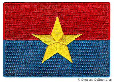 NORTH VIETNAM FLAG embroidered iron-on PATCH REPUBLIC EMBLEM APPLIQUE VIET CONG