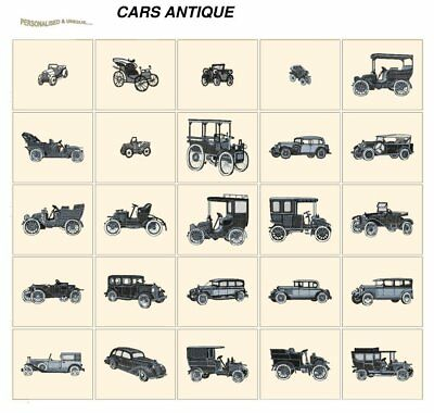 CARS ANTIQUE. CD or USB machine embroidery designs files many formats pes jef