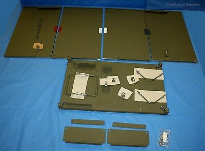 Chest Insert Mounting Unit w/ Wooden Table for Military Dental Set NOS