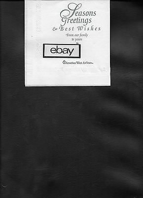 """America West Airlines Cocktail Napkin """"seasons Greeting"""" Best Wishes Route Map"""